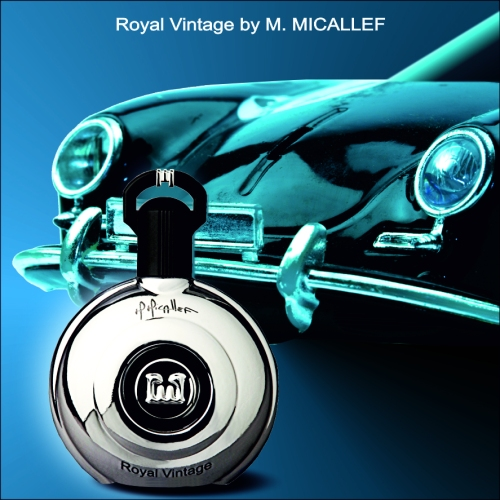ROYAL VINTAGE bottle with car