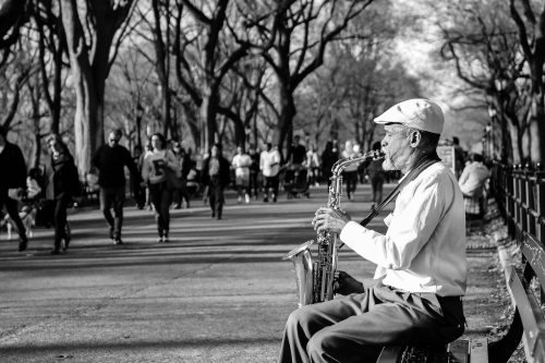 Central Park Saxaphonist